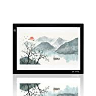"Huion L4S Light Box - 17.72 Inches USB ADJUSTABLE Illumination Light Panel only 5mm Thin Light Table with 5 A4 Tracing Papers and 1 Non-woven Bag L14.17"" x W10.63"" x H0.2"""