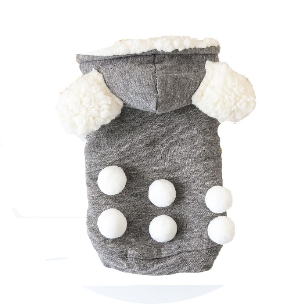 Grey XL Grey XL Cotton Thickening Pet Clothes Dog Hoodies Spring Autumn Leisure Sportshirts for Small Large Dogs Cat Puppy Hooded Clothes