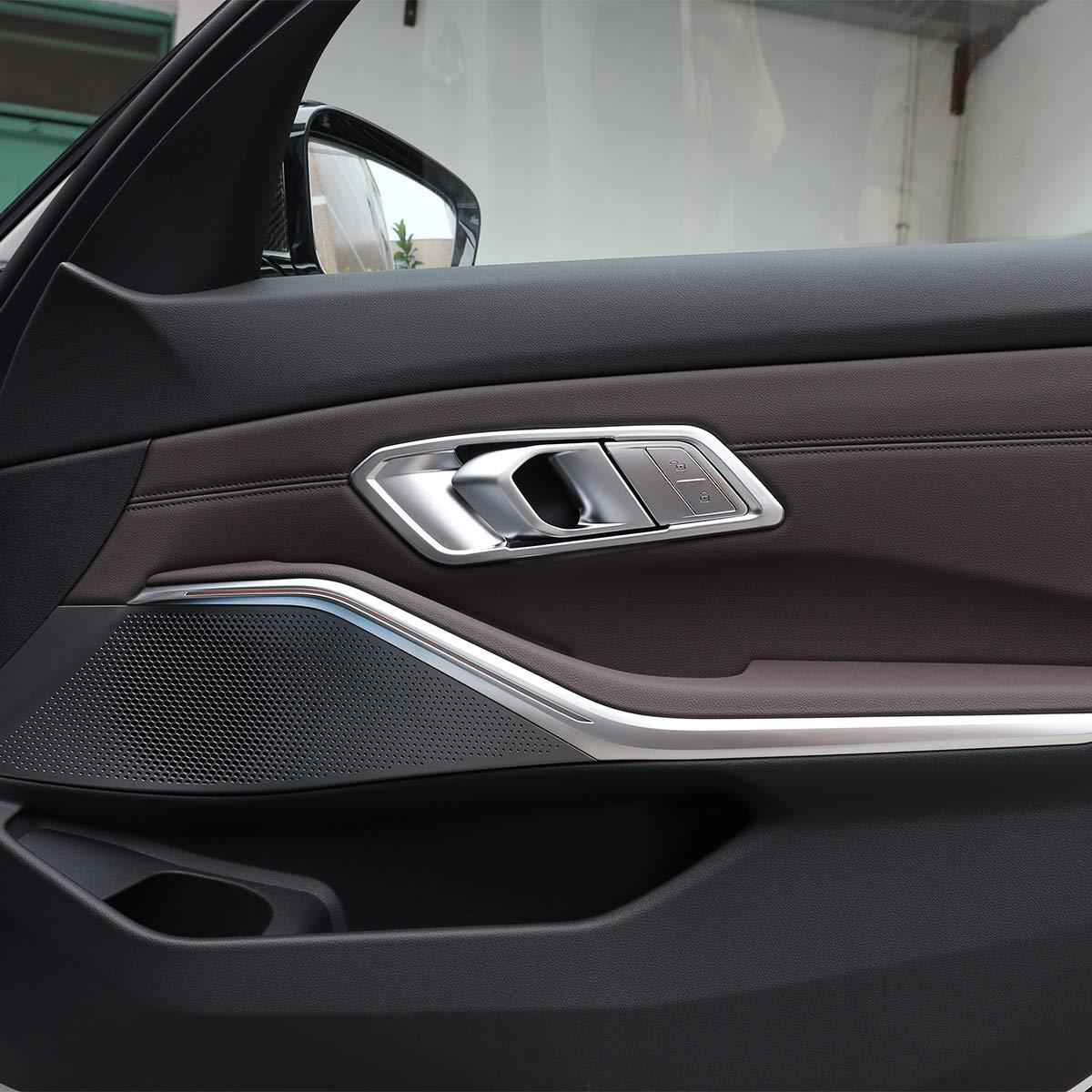 2020 G28 lado izquierdo serie 3 Embellecedor de manija de puerta interior de ABS cromado para G20