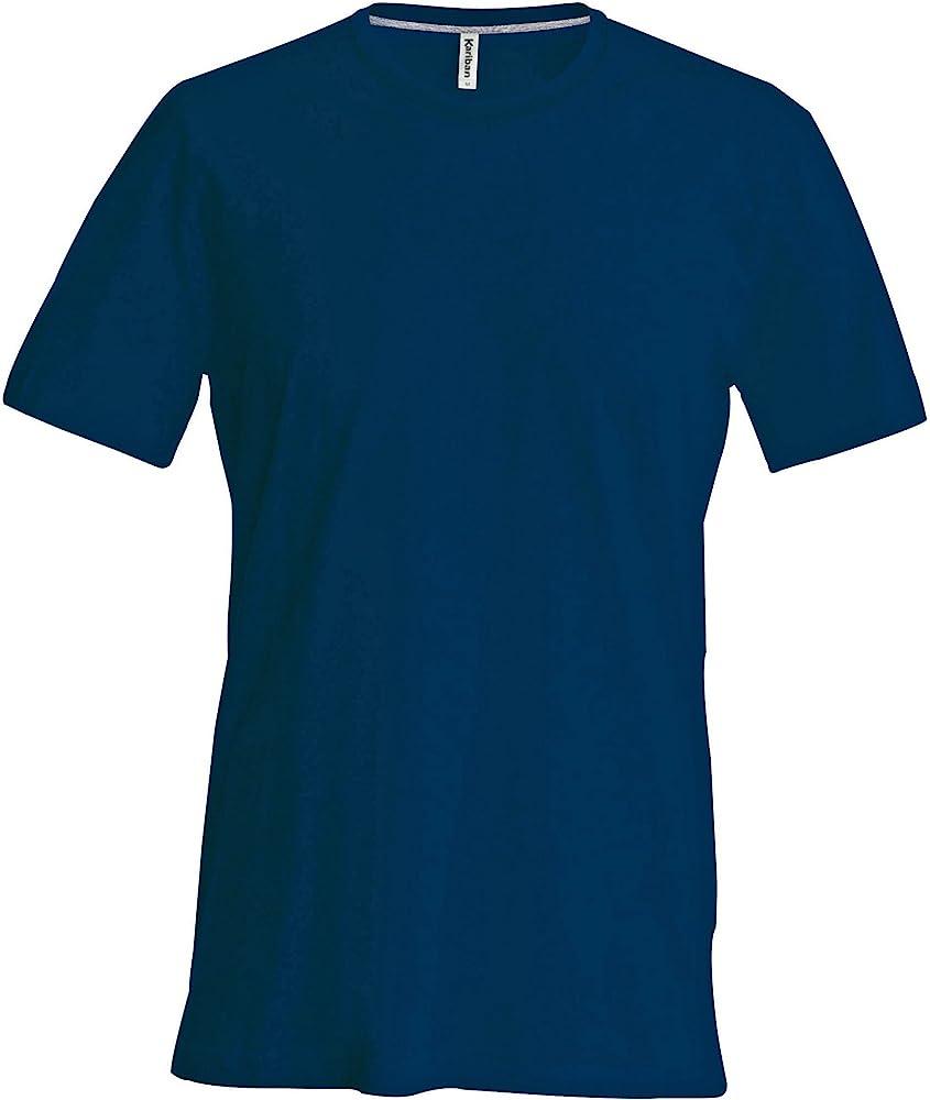Kariban - Camiseta Básica entallada con cuello redondo de manga ...