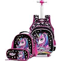 Dziecięce plecaki na kółkach zestaw dla chłopców dziewcząt – wózek szkoła podstawowa plecak nastolatki zdejmowana…