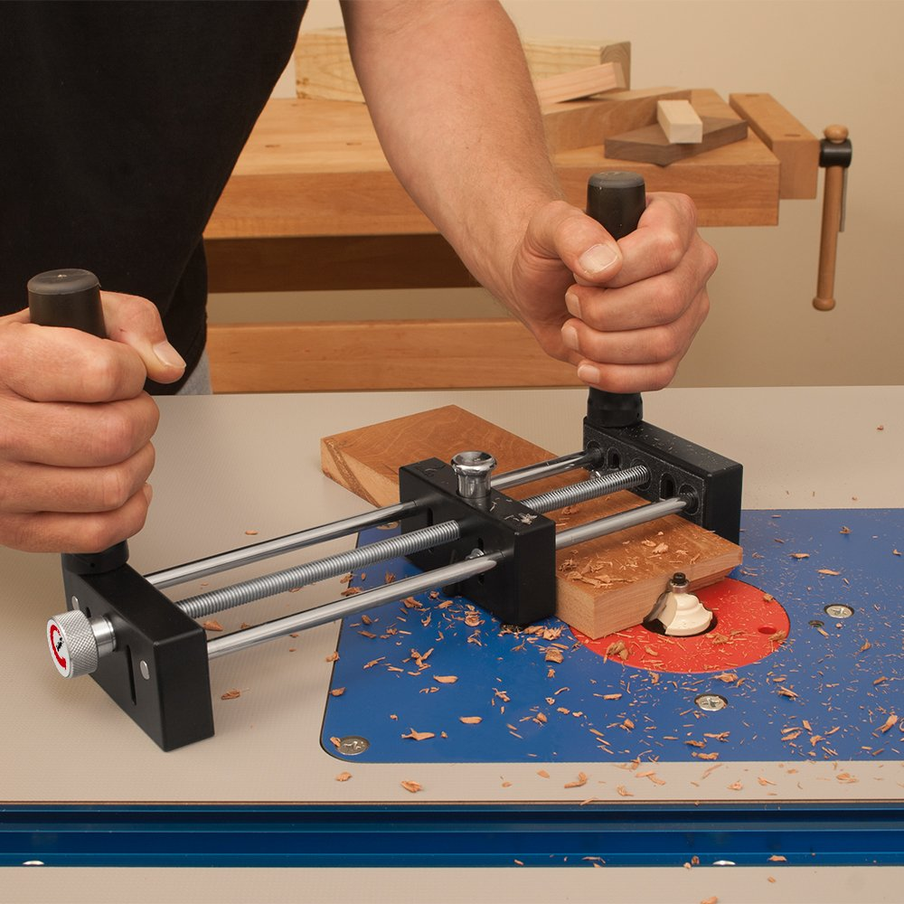 Small Stock or Piece Holder For Use With Router Tables. Safely Cut Smaller Pieces of Wood. Works With Any Router Table and Is Ideal For Free Hand Work by Peachtree Woodworking Supply (Image #8)