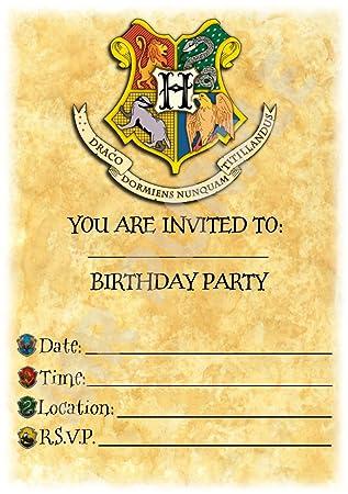 Harry Potter Birthday Party Invites
