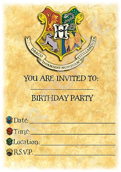Harry Potter Birthday - invitaciones para fiestas - Hogwarts ...