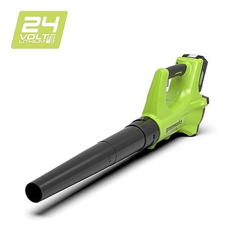 Greenworks 372402207 Soplador Inalámbrico, 24 V, Verde