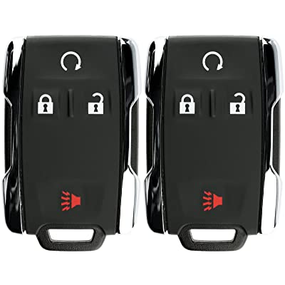 KeylessOption Keyless Entry Remote Control Car Key Fob Replacement for Chevy GMC M3N-32337100 (Pack of 2): Automotive