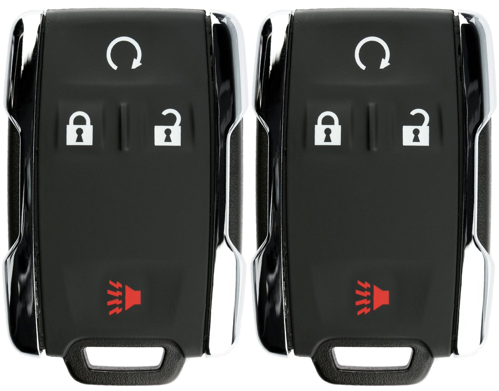 KeylessOption Keyless Entry Remote Control Car Key Fob Replacement for Chevy GMC M3N-32337100 (Pack of 2) by KeylessOption