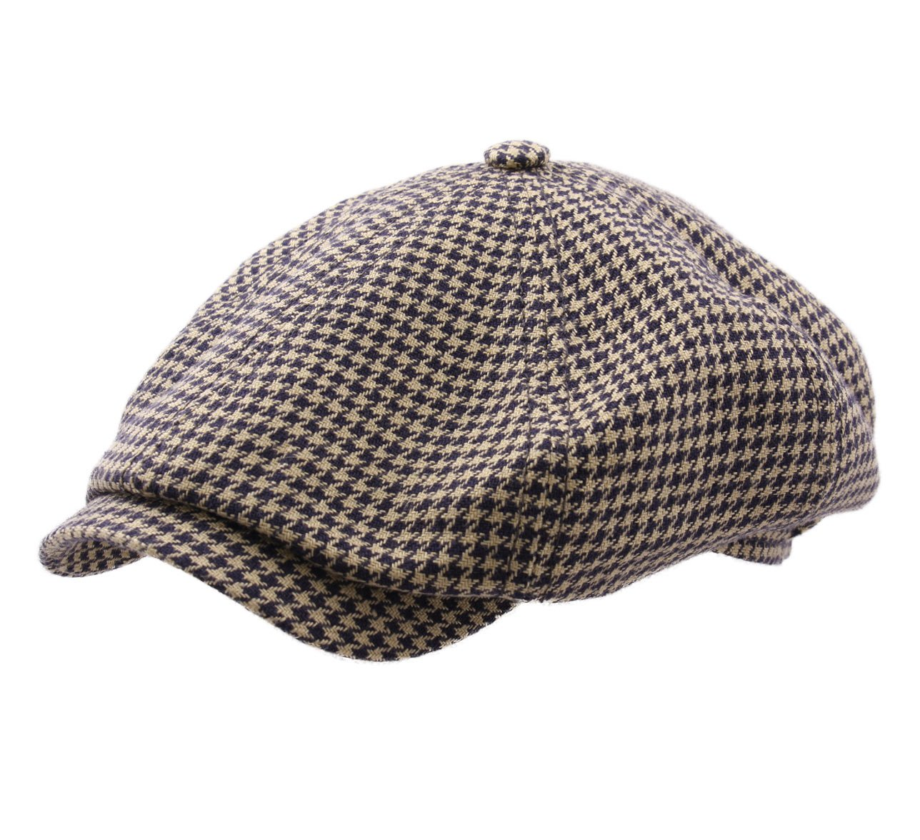 Stetson Women's Houndstooth Flat Cap Size M by Stetson