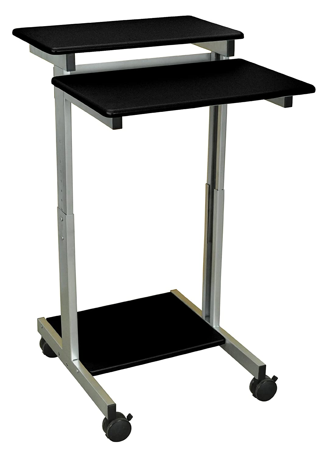 LUXOR Standup-24-B Stand Up Presentation Station, Black LUXStandup-24-B