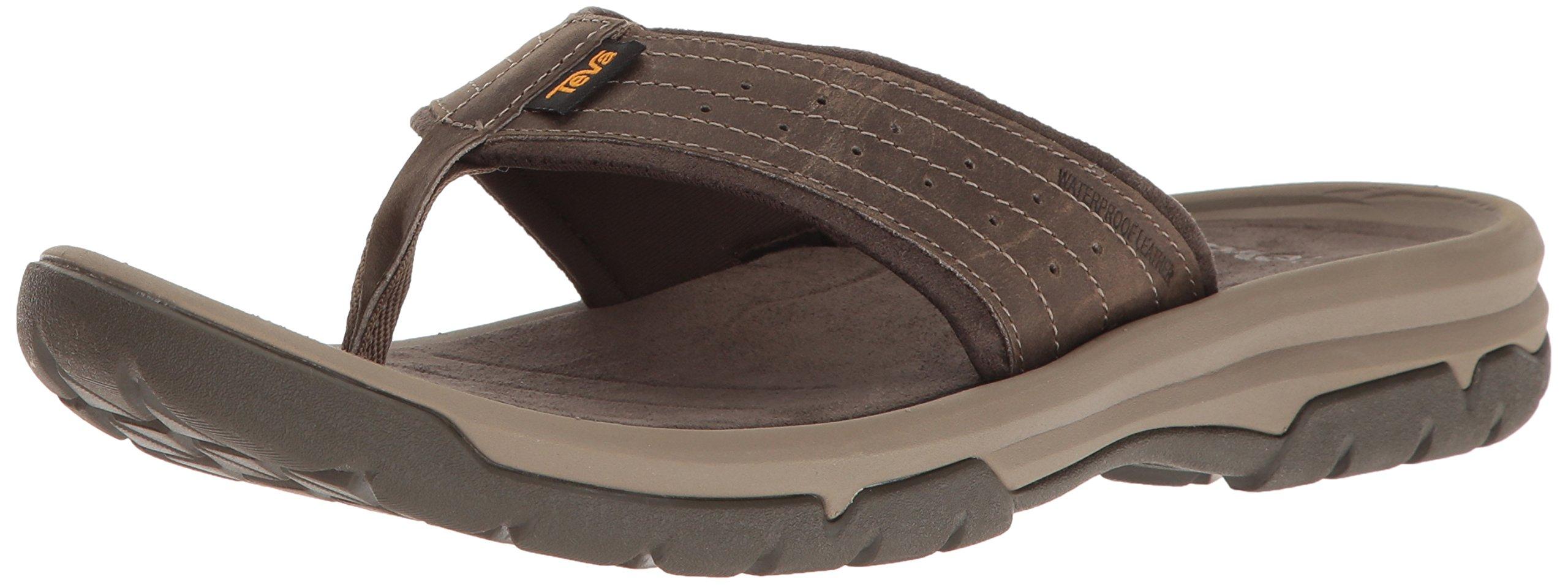 Teva Men's M Langdon Flip Sandal, Walnut, 11 M US by Teva