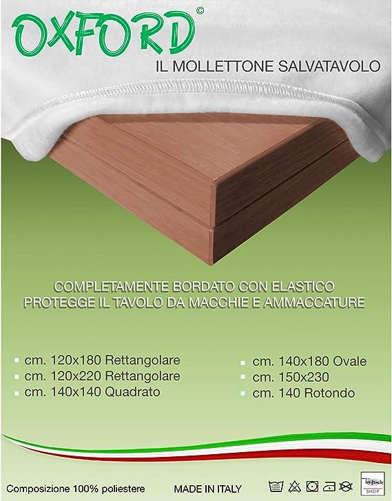 Muletón de mesa, protección, color blanco,120 × 220 cm: Amazon.es ...