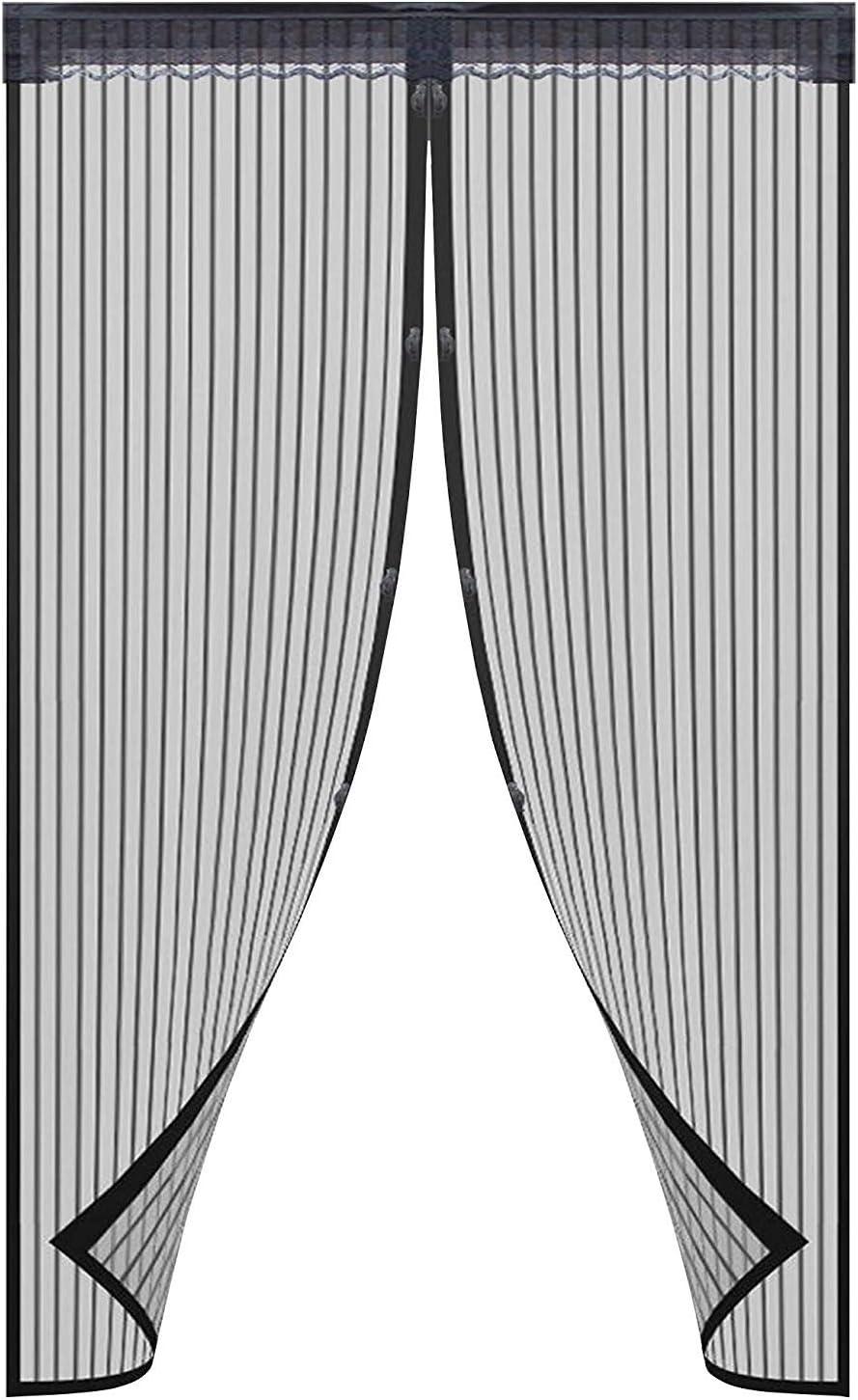 Noir Rideau Magn/étique pour portes Facile /à Installer Sans Percer,Pour Porte Patio Couloirs Emp/êche de Passer les Moustiques et Autres Bestioles 90 * 210cm SeeKool Moustiquaire porte Magn/étique