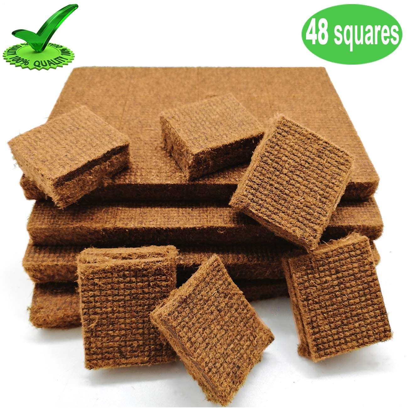 Senneny 100% All Natural Charcoal Starters 48 Squares Fire Starter for BBQ Grill Smoker Kamados Barbecue
