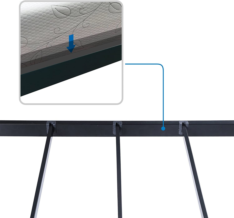 Twin V/&LX 14 inch Tall Heavy-Duty Steel Slats//1.0T Steel Frame//V1401//Bed Frame