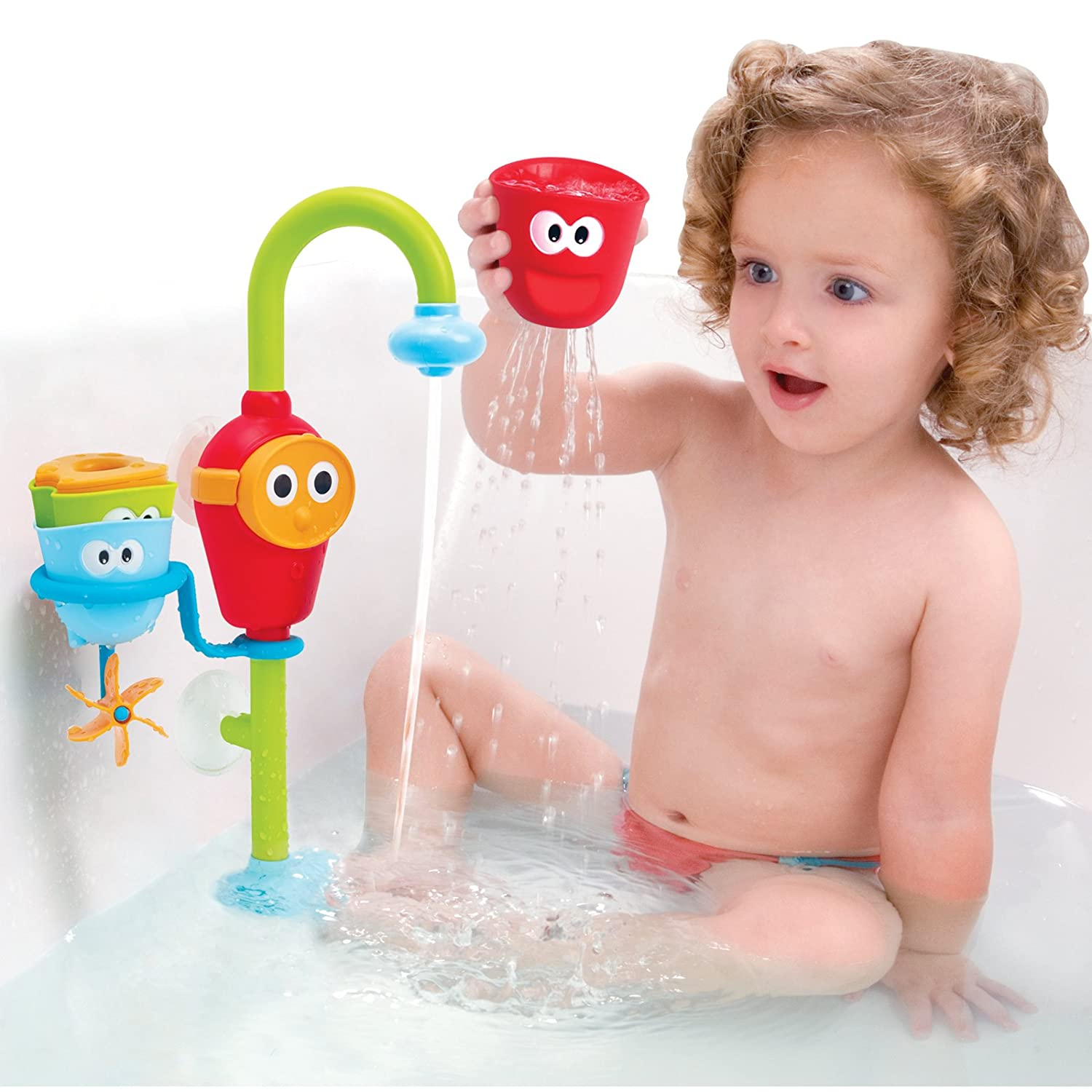Amazon Baby Bath Toy Flow N Fill Spout Three Stackable
