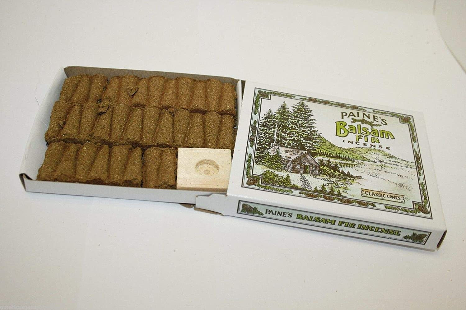Paines Red Cedar Paine/'s Real Wood Incense Paine Products 32 Cones With Holder