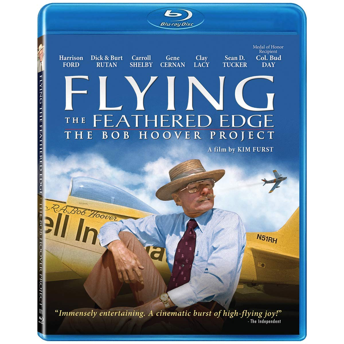 NEW The Bob Hoover Project-BluRay FREE SHIPPING Flying the Feathered Edge