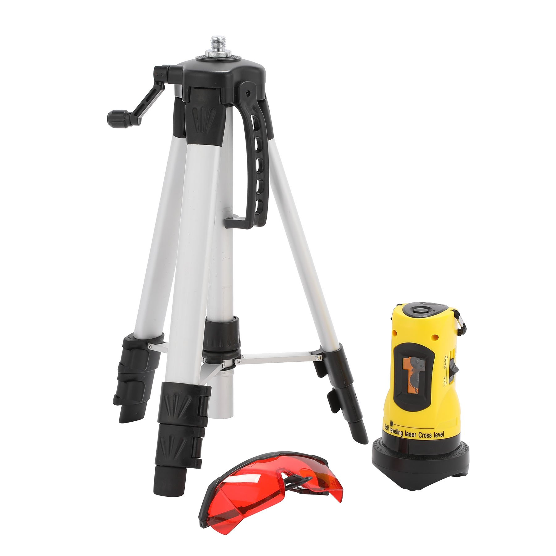 CO-Z Laser Level with Tripod, Auto Leveling Kit Combo with Horizontal/Vertical/ Cross-Line, Dual-module Self-Leveling Tool Set for Builders & Contractors by CO-Z (Image #2)