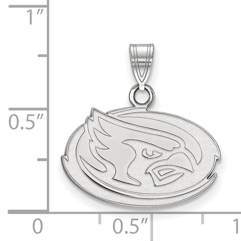 925 Sterling Silver Rhodium-plated Laser-cut Iowa State University Small Pendant