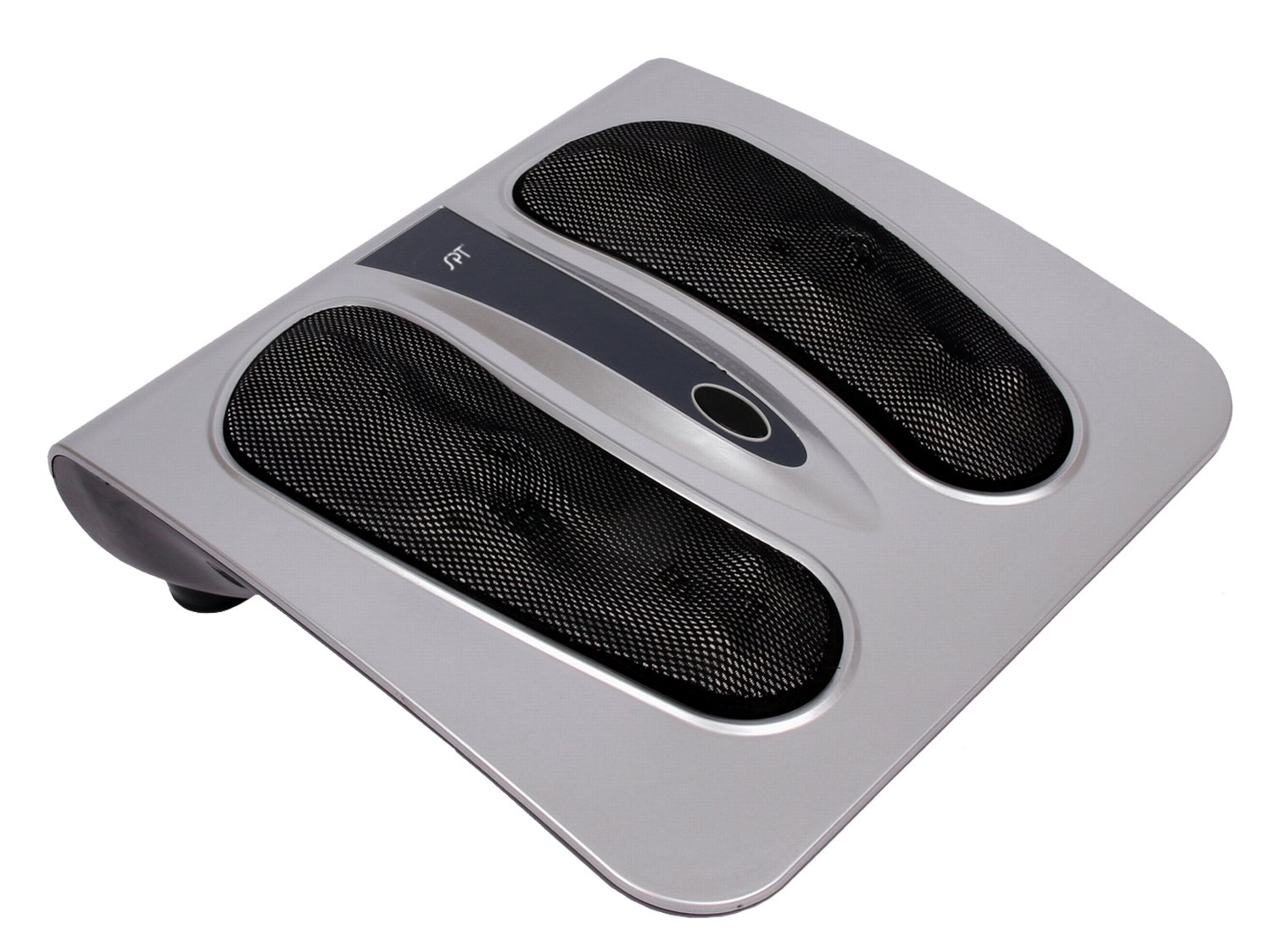 SPT AB-764 Deep Kneading Shiatsu Foot Massager with Infrared, Silver/Black