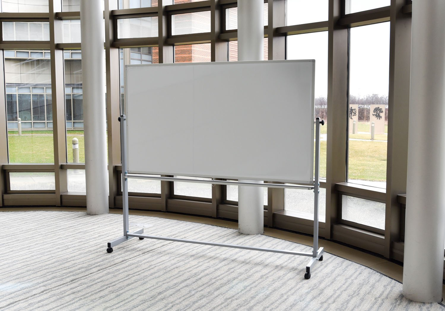 Offex Reversible Magnetic Mobile 72''x40'' Dry Erase Whiteboard