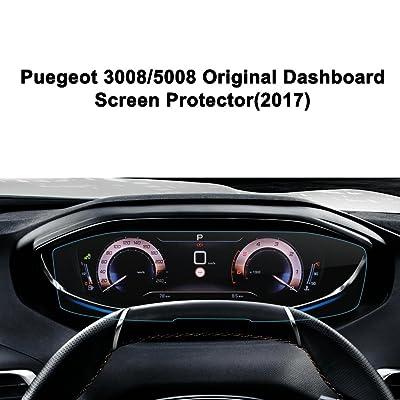 LFOTPP Peugeot 3008/5008 2017Tablero de Instrumentos –Protector de pantalla para 9H Resistente a los arañazos–Antihuellas Sistema de navegación Protector de pantalla GPS Navi&
