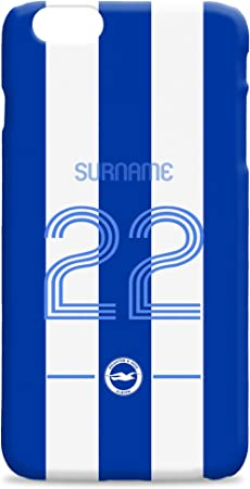 Official Personalised Brighton & Hove Albion Football Retro Shirt Hard Back Phone Case Iphone & Samsung Compatible