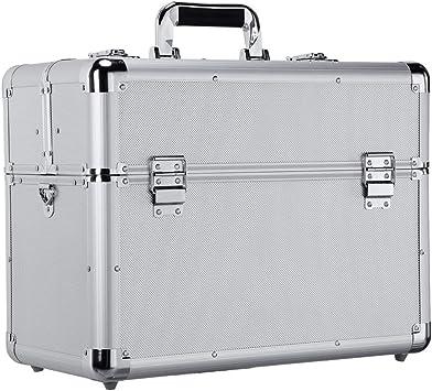 anndora Werkzeugkoffer 47 x 23 x 25 cm Schwarz 19 L Transportbox Werkzeugkasten