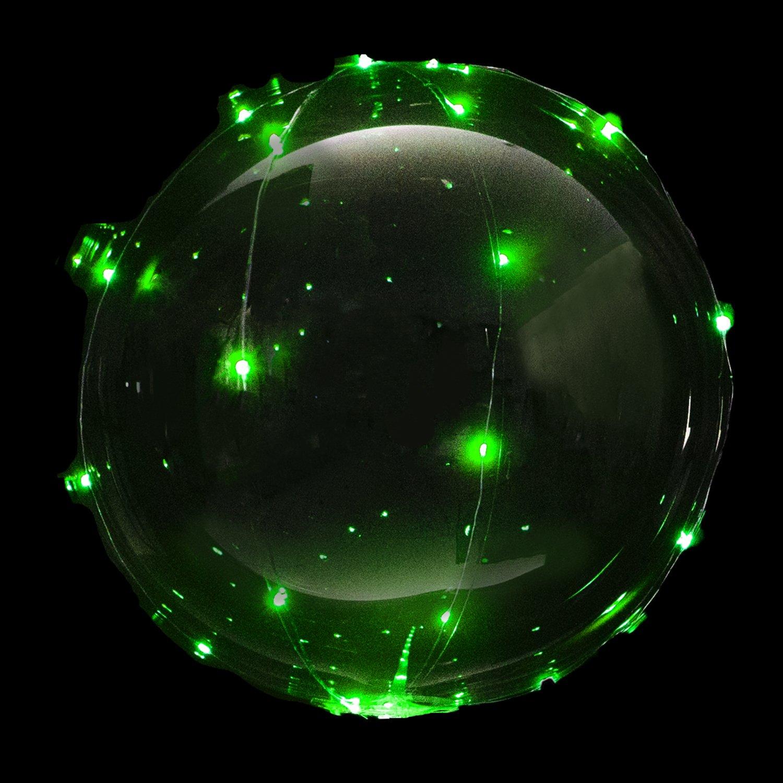 [大量注文可] MRG 光る風船 NEON TAIL ネオンテール LED ライト イルミネーション バルーン パーティーバルーン (グリーン, 30個セット) 30個セット グリーン B078W46X99