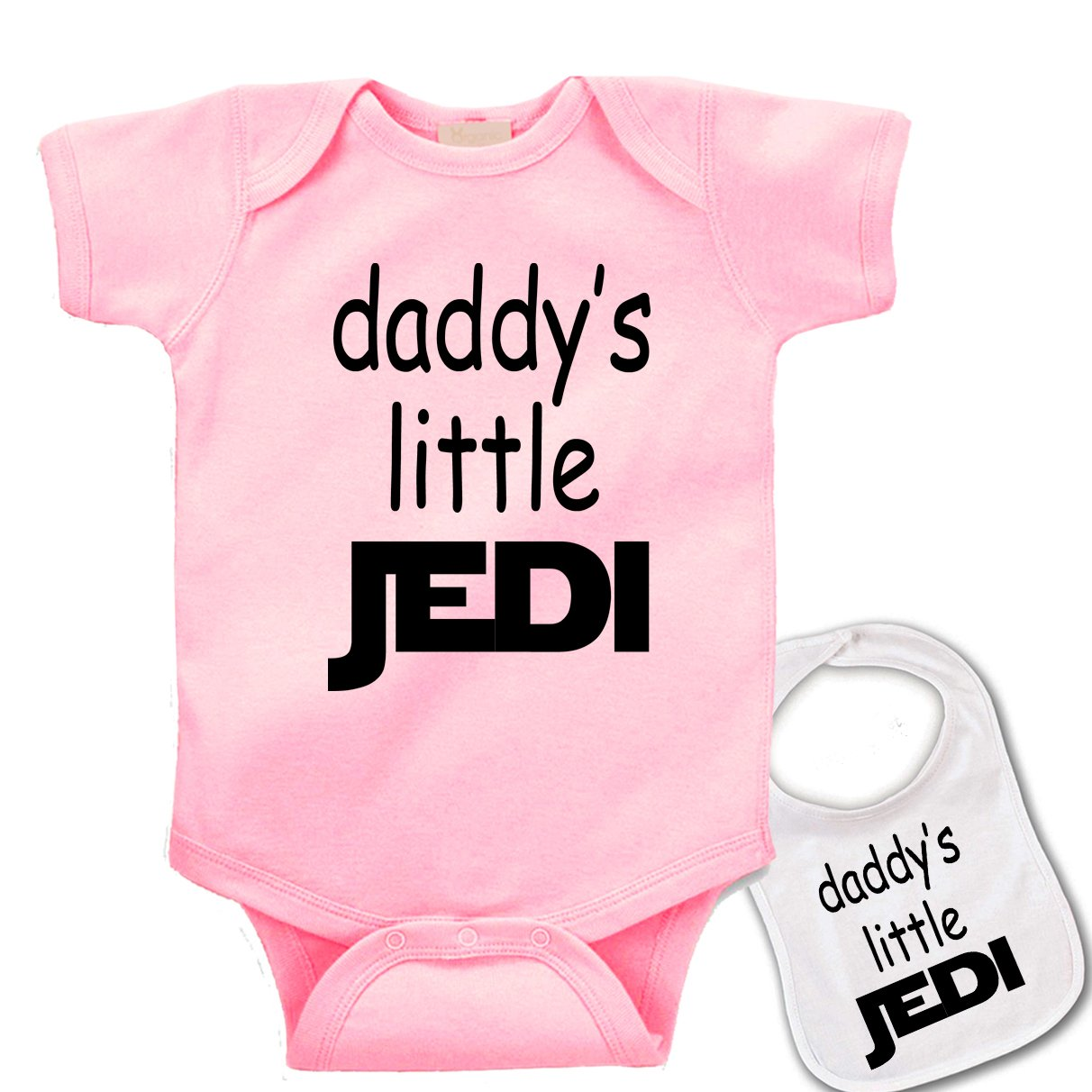 Daddys Little Jedi  Custom Star Wars Baby bodysuit onesie & Matching bib Set 772u