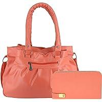 DAMDAM Women's Handbag Wallet Clutch Combo
