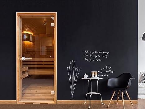 murando Le papier peint autoadh/ésif pour portes 80x210 cm Trompe l oeil porte Papier peint Image Papier peint pour portes Poster Autocollant Image Design Sauna marron n-B-0022-a-d