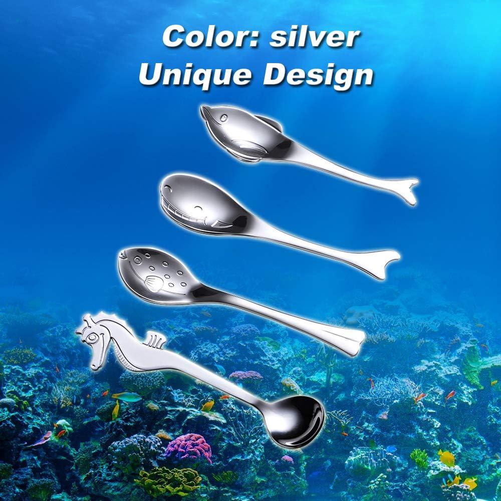 Wenkoni 18/10 Creative Stainless Steel Musical Note Tea Spoons ...