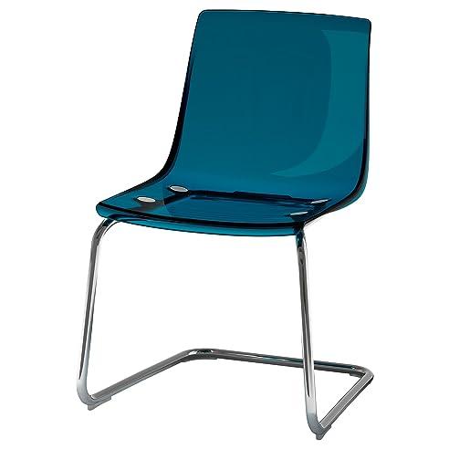 Drehstuhl ikea blau  Amazon.de: IKEA TOBIAS - Stuhl Blau / verchromt