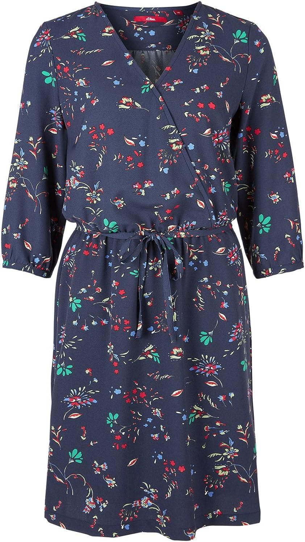 s.Oliver Women's Dress Blue (Dark Steel Blue Aop 58b6)