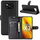 """Capa Capinha Carteira 360 Para Xiaomi Poco X3 com Tela de 6.67"""" polegadas - Case Couro Flip Wallet Anti Impacto - Danet (Pret"""