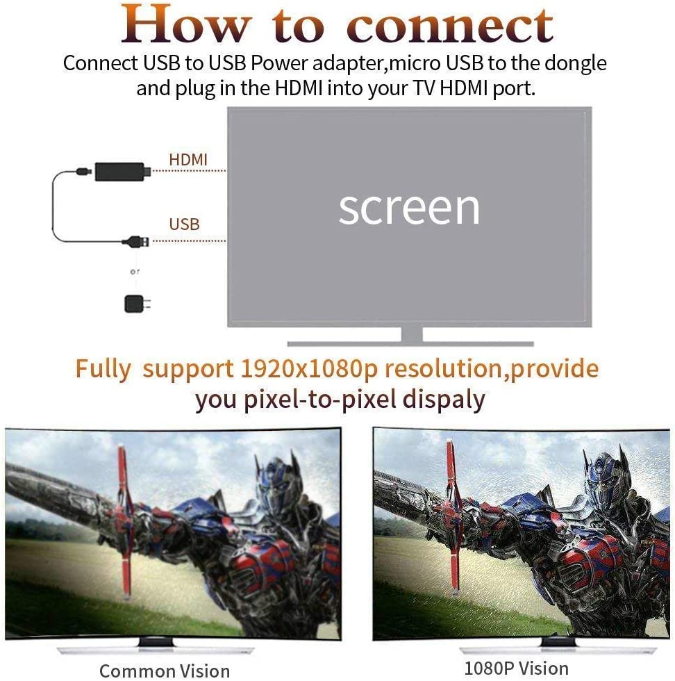 ATETION WiFi Anzeige Dongle,Wi-Fi Drahtlos 1080P Mini-Anzeigeempf/änger HDMI TV Miracast DLNA Airplay f/ür IOS//Android//Windows//Mac