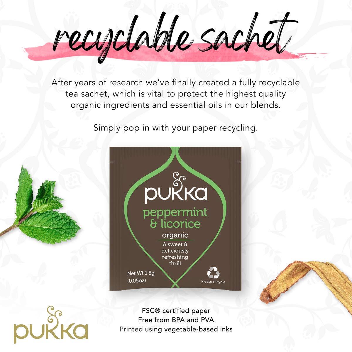 Pukka Peppermint & Licorice, Organic Herbal Tea (6 Pack, 120 Tea Bags