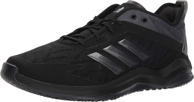 adidas Men s Speed Trainer 4 Baseball Shoe, Black Night Metallic Carbon, 12 M US