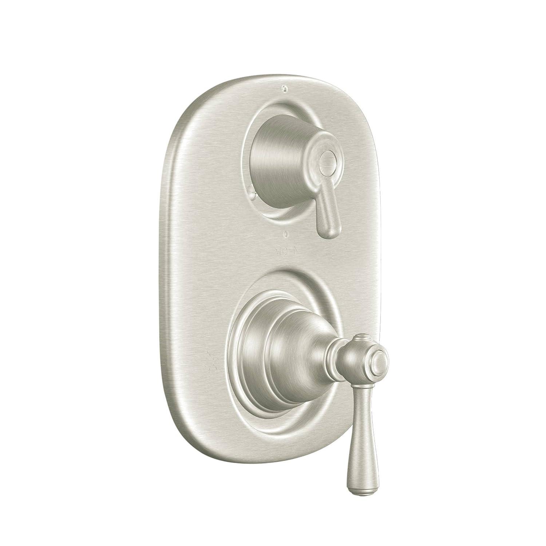 moen three handle shower faucet. Moen T4111BN Kingsley Moentrol Tub Shower Transfer Valve Trim Kit without  Brushed Nickel Amazon com