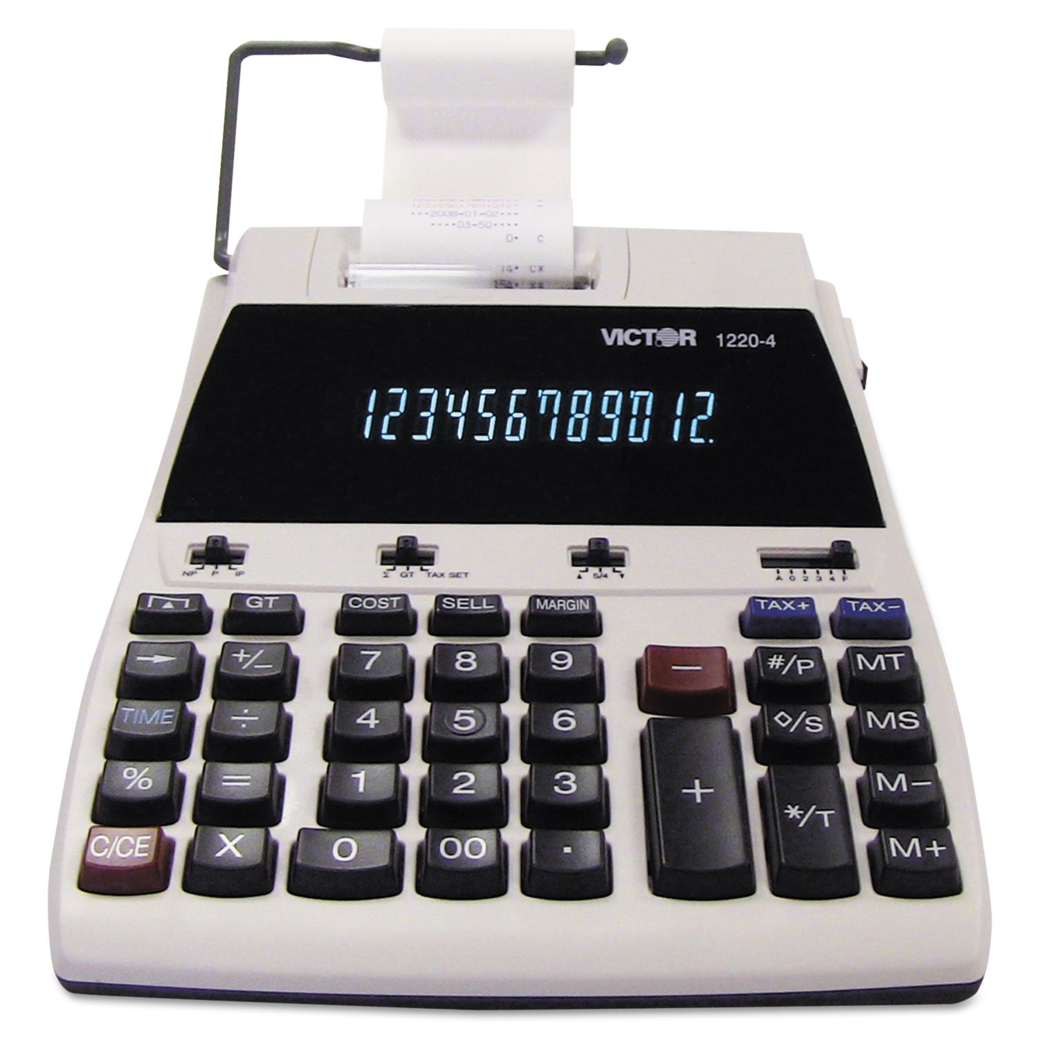 VCT12204 - Victor 1220-4 Two-Color Tax Key Printing Calculator by Victor