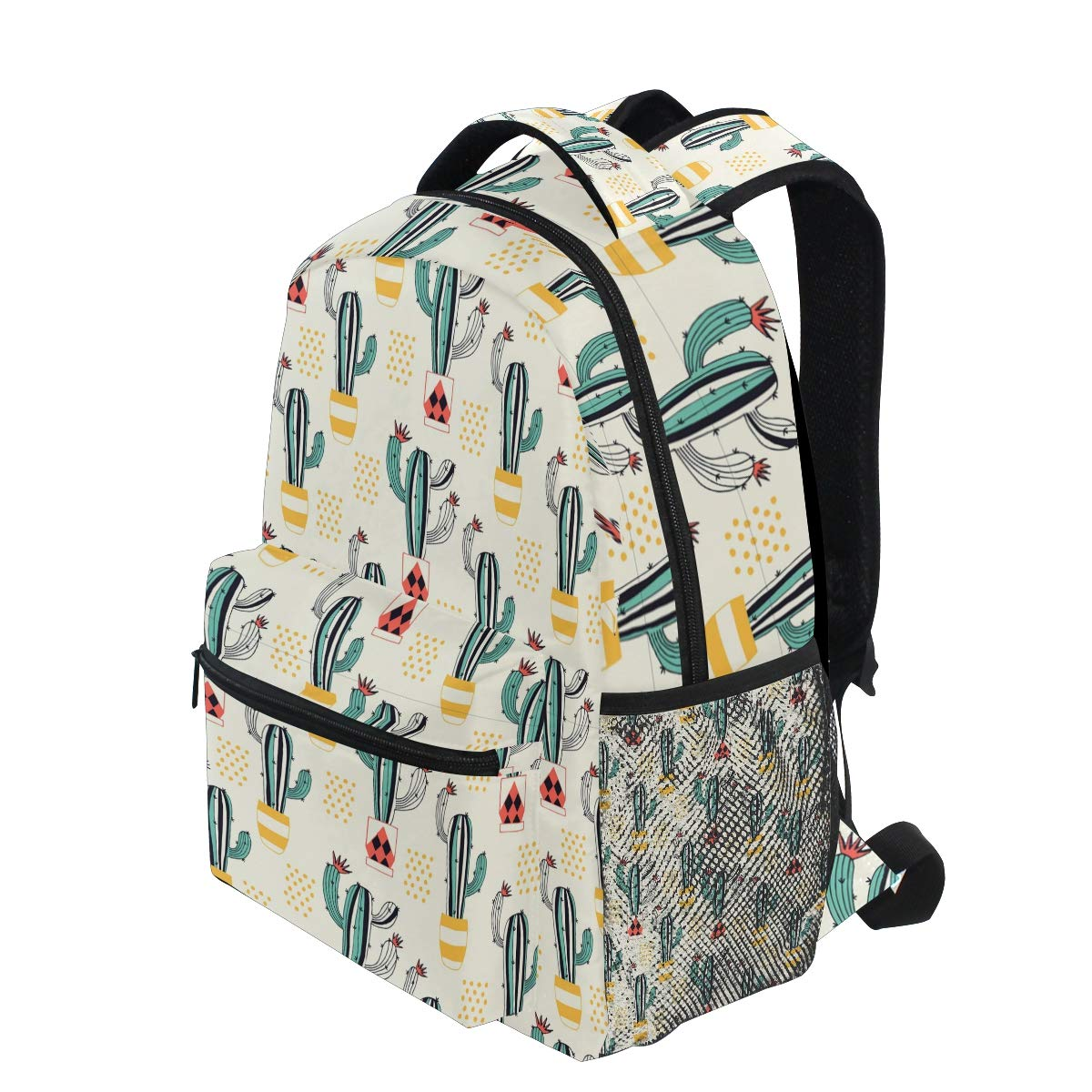 Travel Duffels Yellow Background Cactus Planter Large Travel Duffel Bag For Women Men Overnight Weekend Lightweight Luggage Bag
