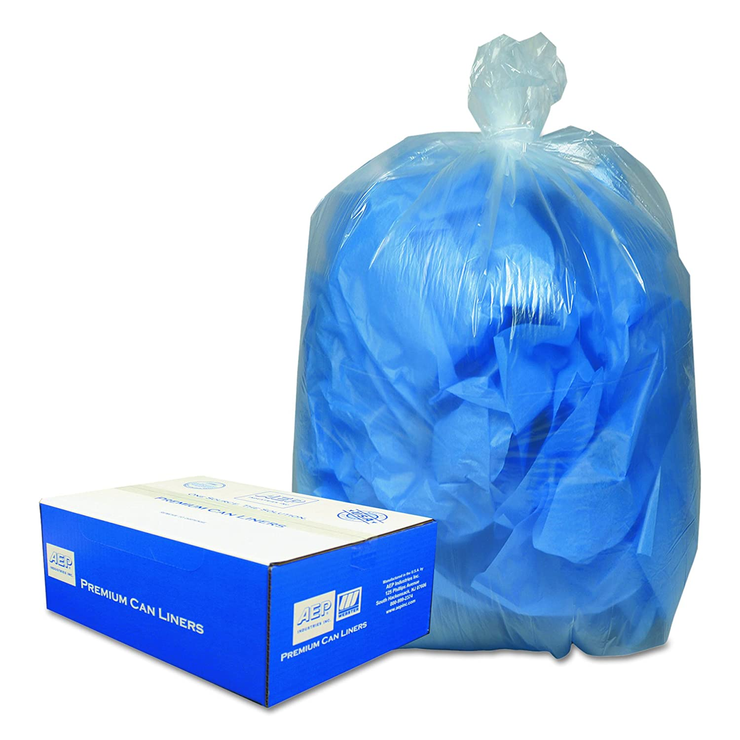 Classic Clear Linear Low-Density Can Liner, 55-60 Gallons,0.8 Milliliters, 38 x 58, Clear, 100/Carton (BC-60)