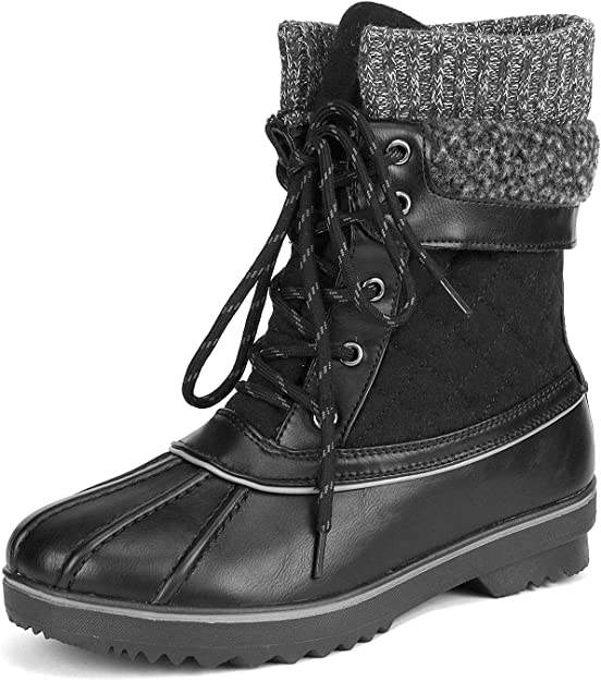 DREAM PAIRS Women's Mid Calf Winter Snow Boots