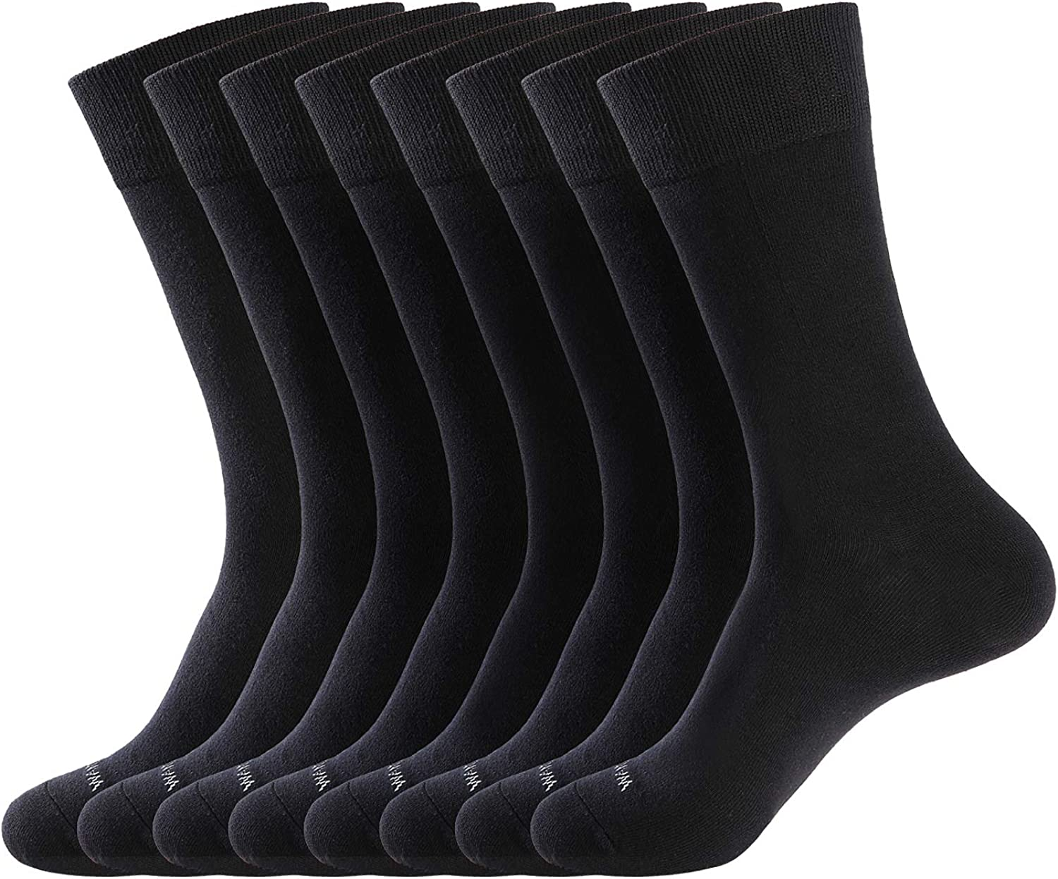 WANDER Men's Dress Socks Cotton Thin Classic lightweight Socks 8 pairs Solid Soft Breathable Socks