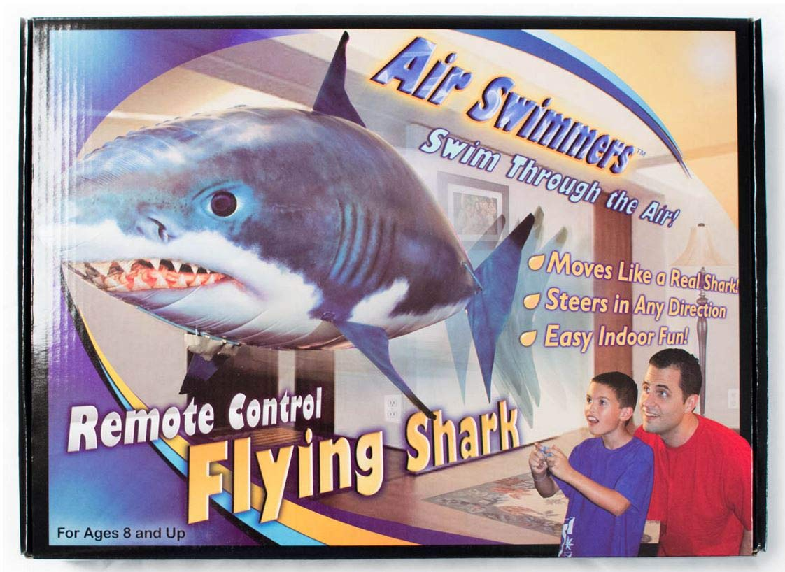 Amazon.com  Air Swimmers Remote Control Flying Shark  Toys   Games c9094809e9f1
