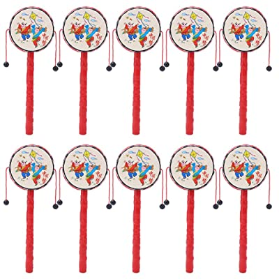JingYi Rattle-Drum Baby Toy,Eco-Friendly 10Pcs Portable Child Kid Rattle-Drum Chinese Traditional Toys Early Educational Music Toy Chinese Traditional Toy: Home & Kitchen