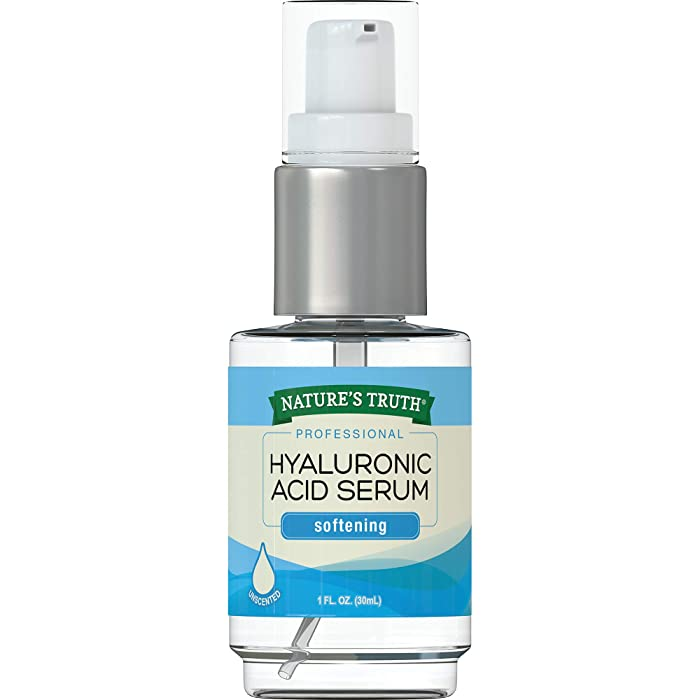 Natures Truth Natures Truth Professional Hyaluronic Acid Serum Softening Unsented, 1 Ounce