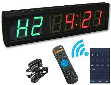 """ganxin app-control 1,8 """"alta 6 dígitos LED temporizador de intervalos"""