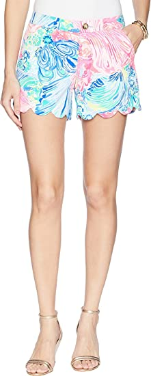7903fd115 Image Unavailable. Image not available for. Color: Lilly Pulitzer Women's  Buttercup Stretch Twill Shorts Multi Beach ...